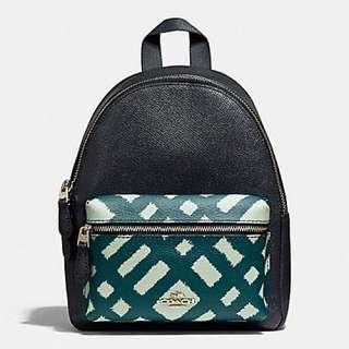 Coach mini Charlie Backpack with Wild Plaid Print