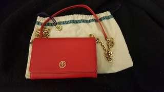 Tory Burch 紅色銀包手袋