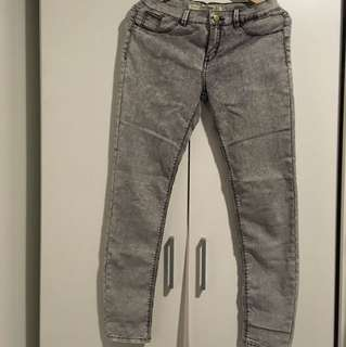 Zara Light Acid Washed Jeans