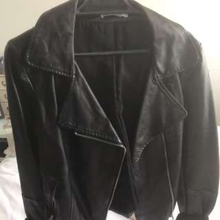 Leather jacket - Luck and Trouble never been worn!!!