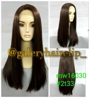 Lace wig lurus darkbrown