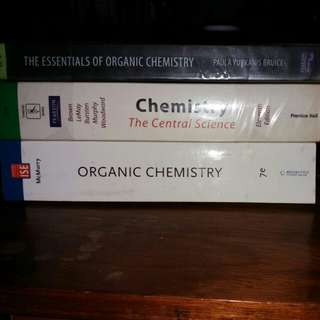 1 General Chemistry and 2 Organic Chemistry Books