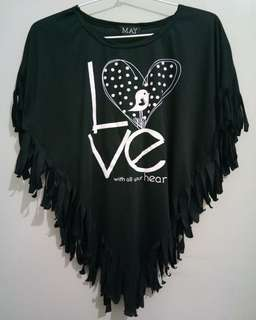 Love Triangle Black Tee