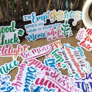 Calligraphy stickers📝(set of 44)