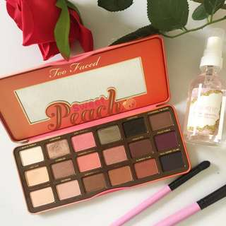 too faced 🍑 authentic peach palette