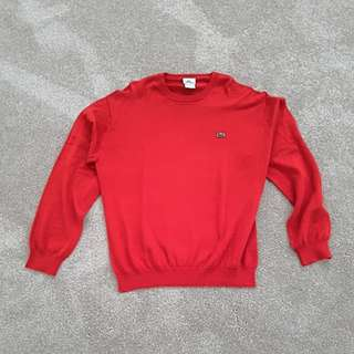Lacoste Red Jumper in size 6