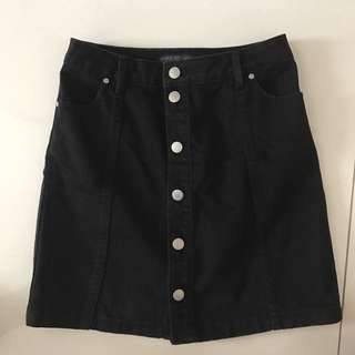 Forever new denim black skirt