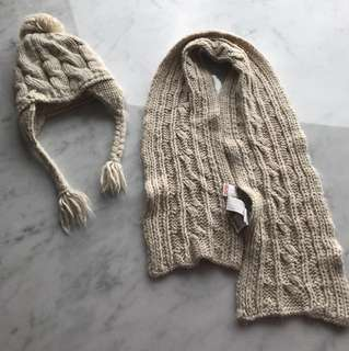 Zara scarf and winter hat