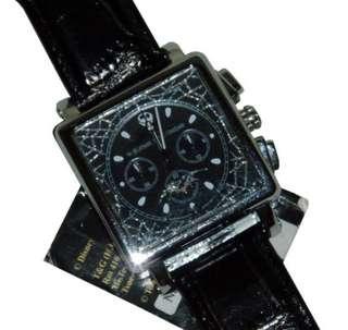 全新 有盒   JACK怪誕城之夜 Nightmare 黑色皮帶機械機蕊手錶