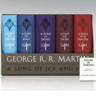 BN Game of Thrones Leather-Cloth Boxed Set (Song of Ice and Fire Series) by George R. R. Martin