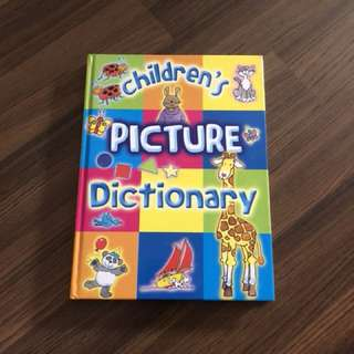 Hard cover children's picture dictionary