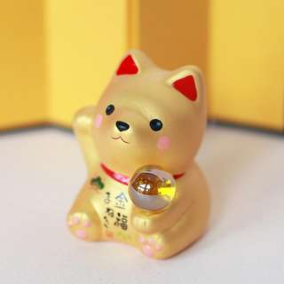YEAR OF THE DOG 2018 - Mini Dog with Orb (Gold)