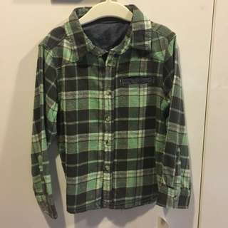 BNWT mothercare boys flannel plaid shirt for 4-5yo