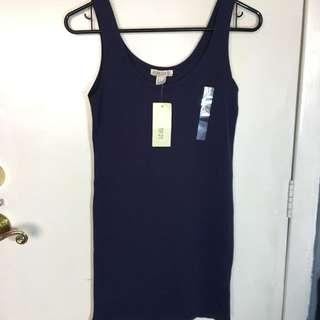 F21 Bodycon Dress - Navy Blue
