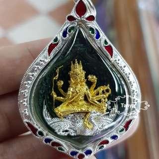 Thai amulets Thai amulet Phra Prom Maha Sombat 4 faces Buddha Brahma God. Bring success grant wishes. Beautifully made 3D design pendant necklace gift