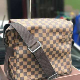 Authentic lv naviglio messenger bag