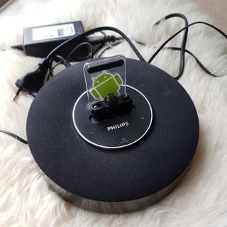 Philips handphone charging stand + speaker