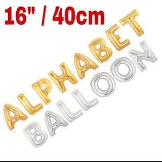 "Alphabet balloon 16"" / 40cm"