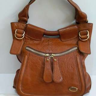 Chloe leather brown comes with db (40×8×33cm)-4mu