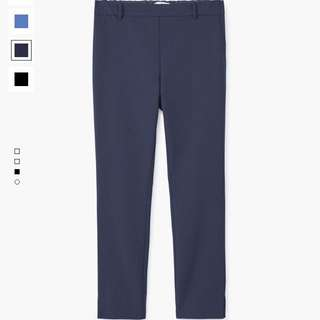 🚚 MANGO 深藍合身長褲