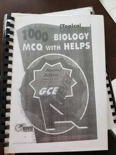 Biology mcq with helps gce a levels