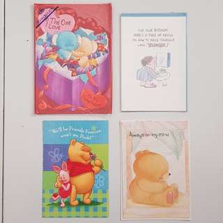 Greeting cards - 4 Assorted cards