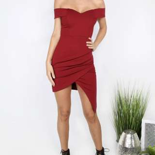 BN Romwe Red Bodycon Dress