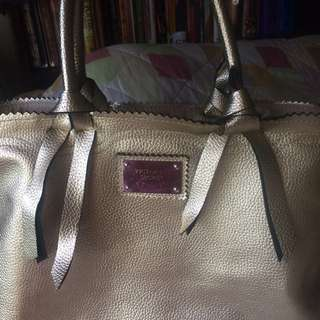 Victoria secret handbag in platinum gold
