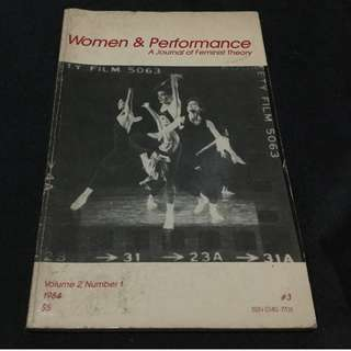 Women & Performance: A Journal of Feminist Theory vol. 2 No. 1 1984