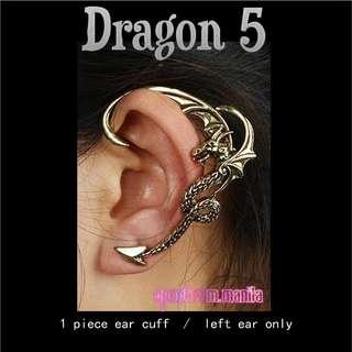 Dragon 5 Earcuff Earclip Earwrap Earclimber