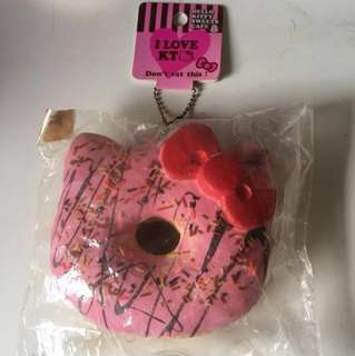 RARE Non-repro Hk hello kitty Donut Squishy