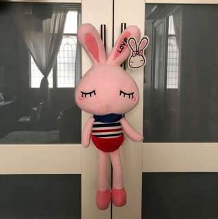 Rabbit soft toy or bunny plushie