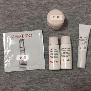 資生堂 Shiseido 美透白 柔膚水 活膚乳 活膚霜 化妝水 乳液 面霜 眼霜 試用 小樣 旅行組 保濕 美白