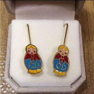 Christian Dior Матрёшка (Russian doll) Earings