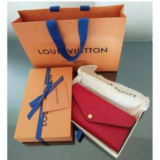 🚚 Louis Vuitton joséphine wallet (monogram empreinte leather) 100% new with original package