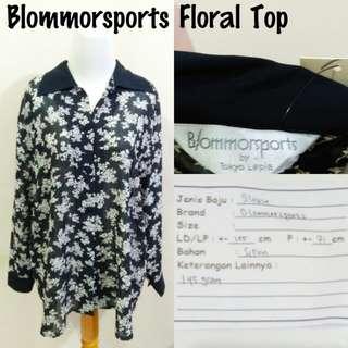 Blommorsports Floral Top | Pakaian Wanita | Atasan Import