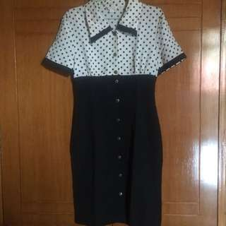 Polkadot Black and White Vintage Dress