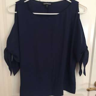 Express Navy Blue Top Size S