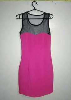 Pre-loved pink semi revealing dress