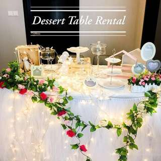 "Dessert Trays for Rent Stands Tutu Table Skirting Rental DIY ""Guess How Much I Love You"" Theme!"