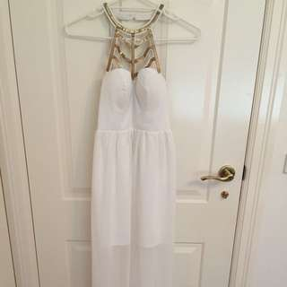 Paradisco White Long Dress