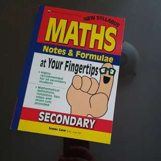 Brand new Maths Notes & Formulae at Your Fingertips