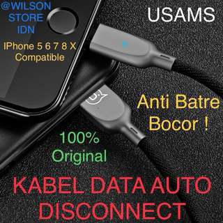 Charger Kabel Cable Data AUTO DISCONNECT IPhone IPad USAMS