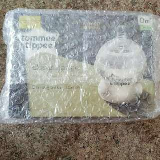 BNIB tommee tippee 150ml 5oz closer to nature feeding bottle 2in pack