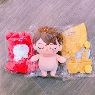 EXO 金鐘仁 小妮妮20cm玩偶 包2套衫
