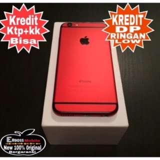 Kredit Low Dp iPhone 6 16GB RED Apple-ditoko bisa ktp+kk cepat 081905288895