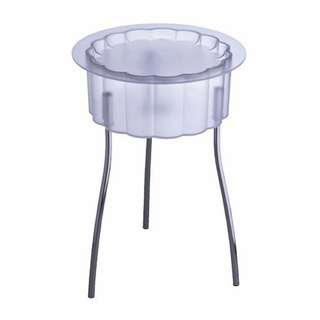 REDUCED in 2019!Transparent side table/storage with cover