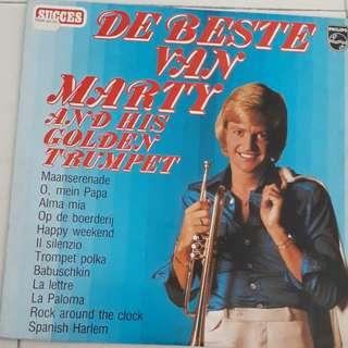 De Beste Van Marty And  His  Golden  Trumpet Vinyl LP Record