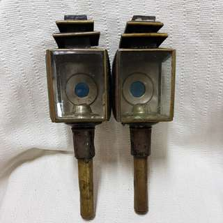 #0322 - Vintage tin Candle Lamps