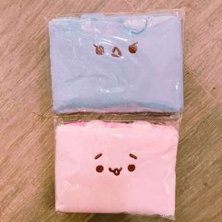 EXO 金珉錫(天藍色) 金鐘大(粉紅色)展會毛毛化妝袋 $95@